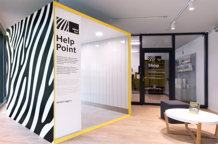Evoq zebrabox corporatedesign signage interieur kommunikation design